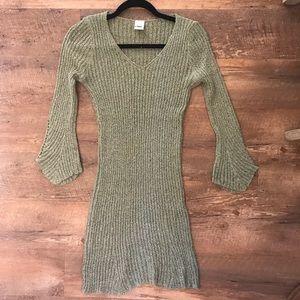 Dresses & Skirts - Army Green Sweater Dress